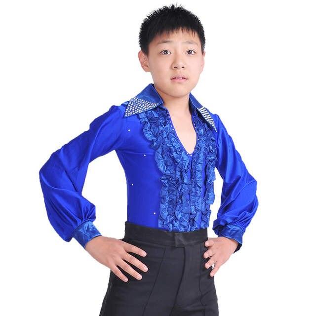 e0201743 Męskie Stroje Taneczne Tańca Towarzyskiego Latin Koszule Dla ...