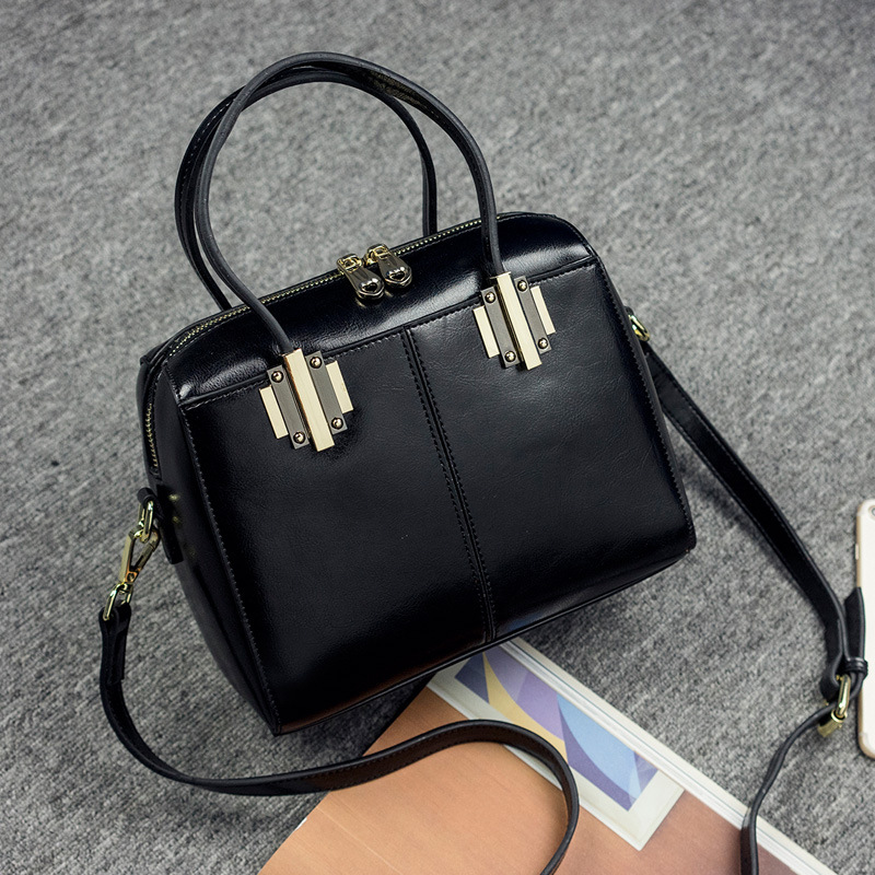 Beducht Vrouwen Koreaanse Versie Van De Nieuwe Lederen Handtas Vintage Lederen Grote Capaciteit Multi-kleur Schouder Messenger Bag Matige Prijs