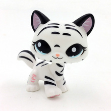 1498 PS Black White Striped Cat Tiger Kitty Kids Toys Gift