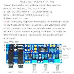 Image 5 - CIRMECH Placa de amplificador de micrófono PT2399 NE5532, preamplificador, reverberación, sonido Echo