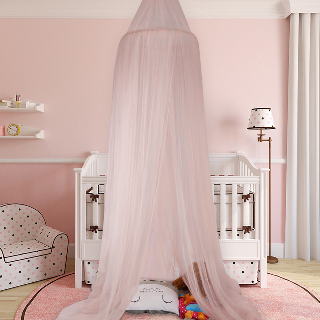 Universal Elegant Round Insect Kids Bed Canopy Netting Curtain Dome  Polyester Bedding Mosquito Net Home Furniture