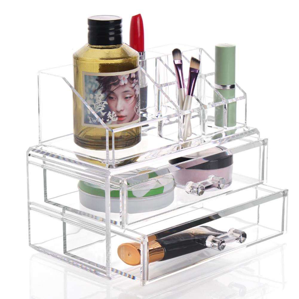 NEW Arrivals Clear Acrylic Makeup Cosmetic Organizer Storage Case Make Up Case Lipstick  ...