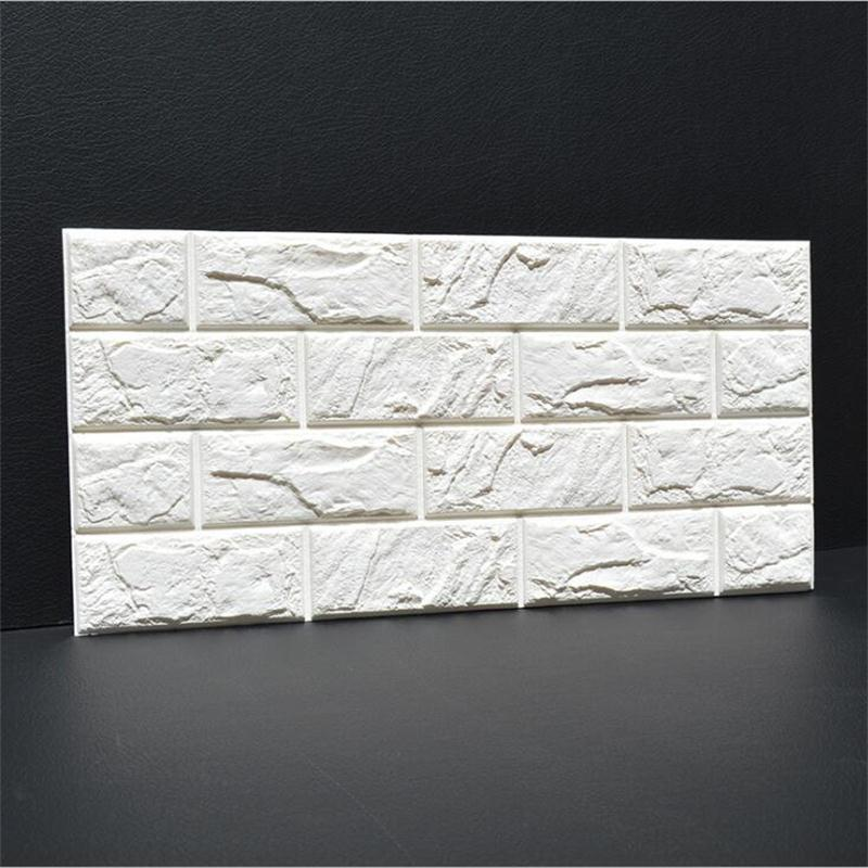 3D PE Foam Flexible Stone Brick Wall Stickers 30*60cm Home Decor TV Sofa Wall Art Mural Kids Safty Poster Embossed DIY Wallpaper