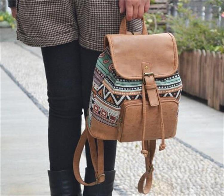 2019 New Women Printing Backpack Canvas School Bags For Teenagers Shoulder Bag Travel Bagpack Rucksack Bolsas Mochilas Femininas