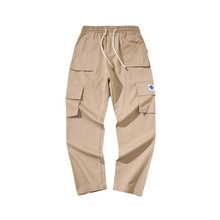 outdoor 2019 new arrival cargo elastic waist embroidery spring autumn khaki/black/army  teenagers trekking tourism trousers men
