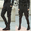 2016 New plus size harem pants male personality non-mainstream men's clothing big crotch pants trousers singer costumes S-3XL