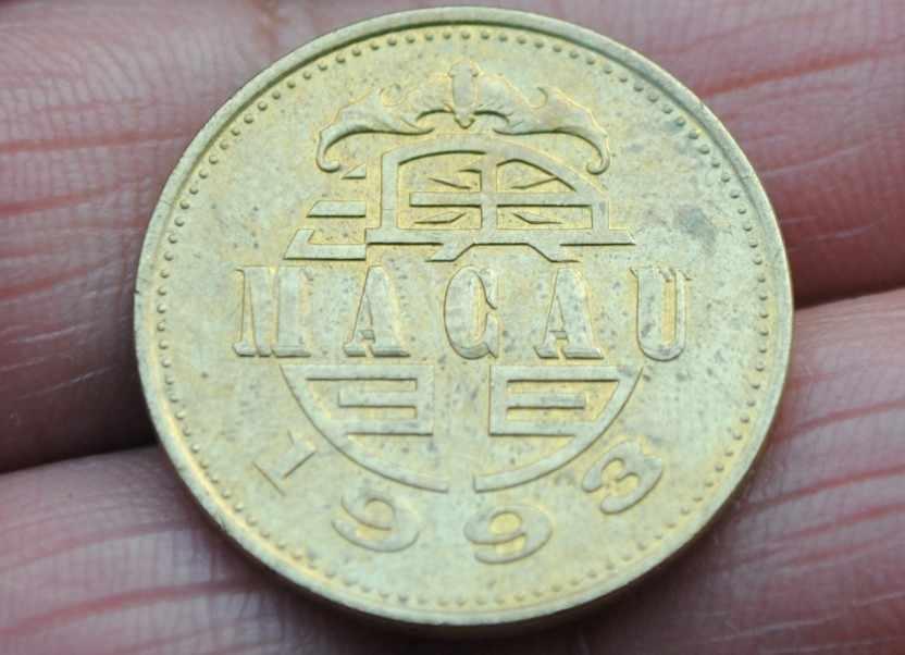 เดิมมาเก๊า50 Avosเหรียญ,เอเชียจีนเหรียญที่หายากสำหรับคอลเลกชัน, 100%เหรียญจริงเก่า