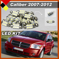 Free Shipping ! Car Truck LED Lamps Kit Set 12V White For 2007-2012 Caliber Interior & Exterior Map Dome License Plate Light