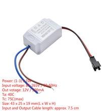 1 Cái Máy Biến Áp Cấp Nguồn Đèn LED Điều Khiển Điện Tử Adapter 3X1W Đơn Giản AC 85V 265V DC 2V 12V 300mA Dây Đèn LED Driver