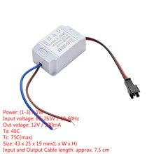 1 pièces transformateur alimentation LED alimentation pilote adaptateur électronique 3X1W Simple ca 85 V 265 V à DC 2 V 12 V 300mA LED pilote de bande