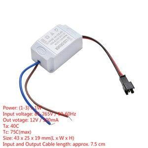 Image 1 - 1 pièces transformateur alimentation LED alimentation pilote adaptateur électronique 3X1W Simple ca 85 V 265 V à DC 2 V 12 V 300mA LED pilote de bande
