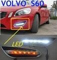 Car-styling, S60 daytime light,2009~2013,LED,Free ship!2pcs,car-detector,S60 fog light,car-covers,S80,s 60
