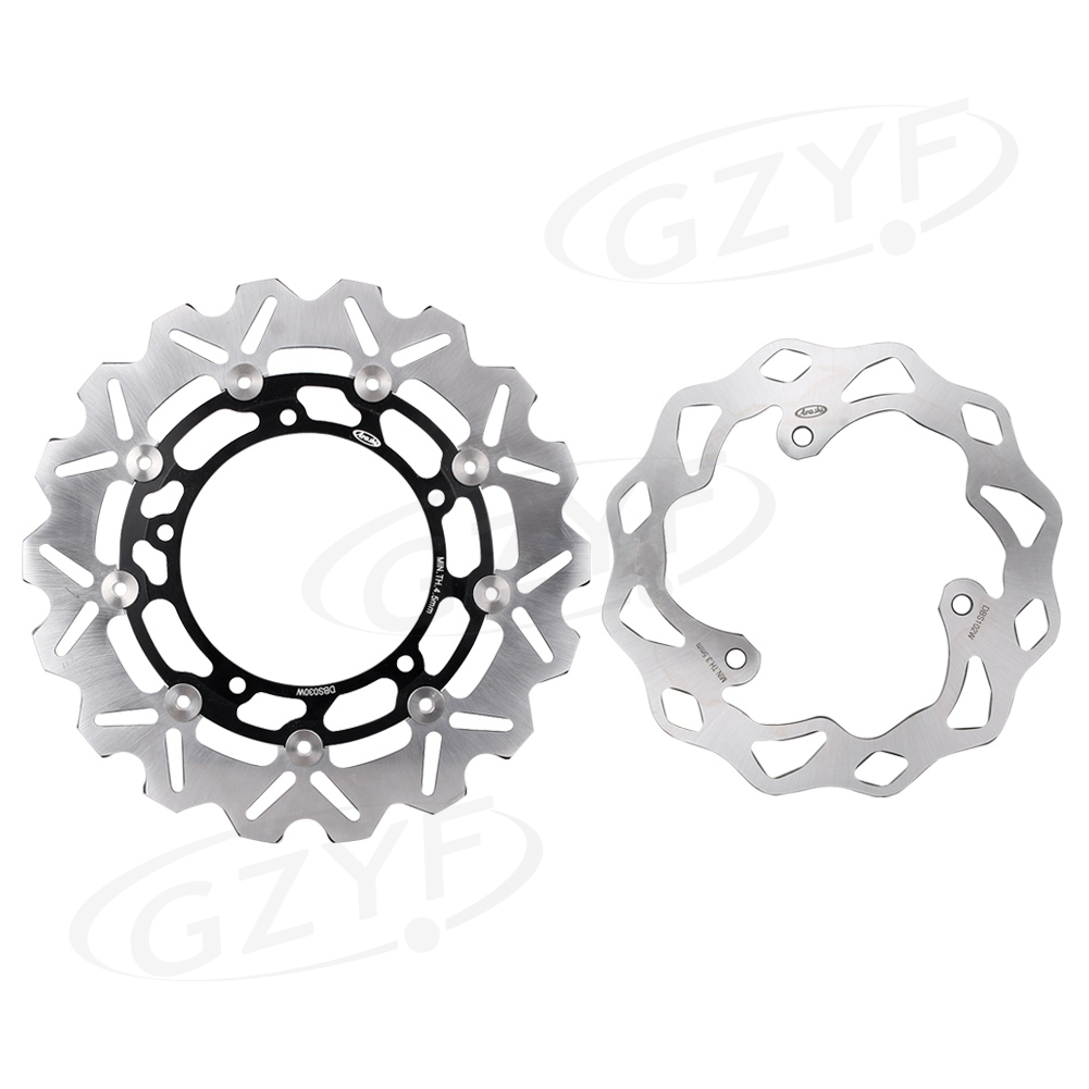 Motorcycle Arashi Front & Rear Brake Disc Rotors Replacement Kit For Yamaha MT-03 ABS 320 YZF R3 R25 цена