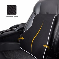 Breathable Car Memory Foam Lumbar Back Support Pillow Cushions Home Office Car Auto Seat Supports Chair Pillows Hot 2017