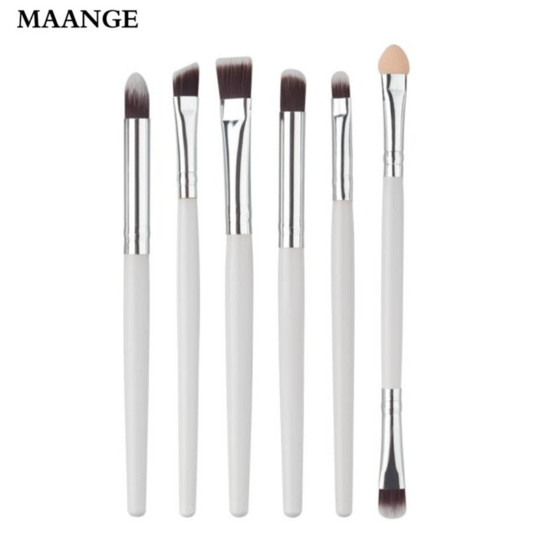6PCS New Cosmetic Brush Makeup Lip eyebrows eyelashes eyes Sets Kits Tools Concealer Professional rose gold makeup Brushes