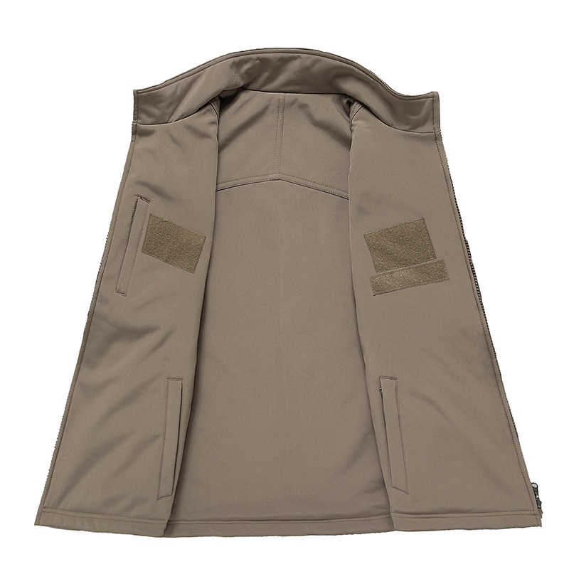Chaleco táctico Hombres estilo militar chaleco camuflaje masculino suave Shell Lurker Piel de tiburón doble lado Camo sin mangas chaqueta del ejército