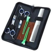 6 Inch Kéo Tóc Chuyên Nghiệp Kit Tesoura Salon Stainless Steel Barber Cắt Tóc Mỏng Scissors Shears Hairdressing Set