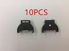 10 pçs/lote CR2032 2025 CR2025 Half Round Coin Botão Bateria Soquete 3 PIN Titular Caso 3pin
