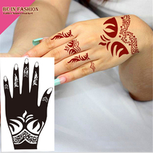 1pc Tattoo Airbrush Stencils Body Painting Henna Stencil Large Template India Lace Tattoos Stencils For Hand Leg Arm Feet S101L