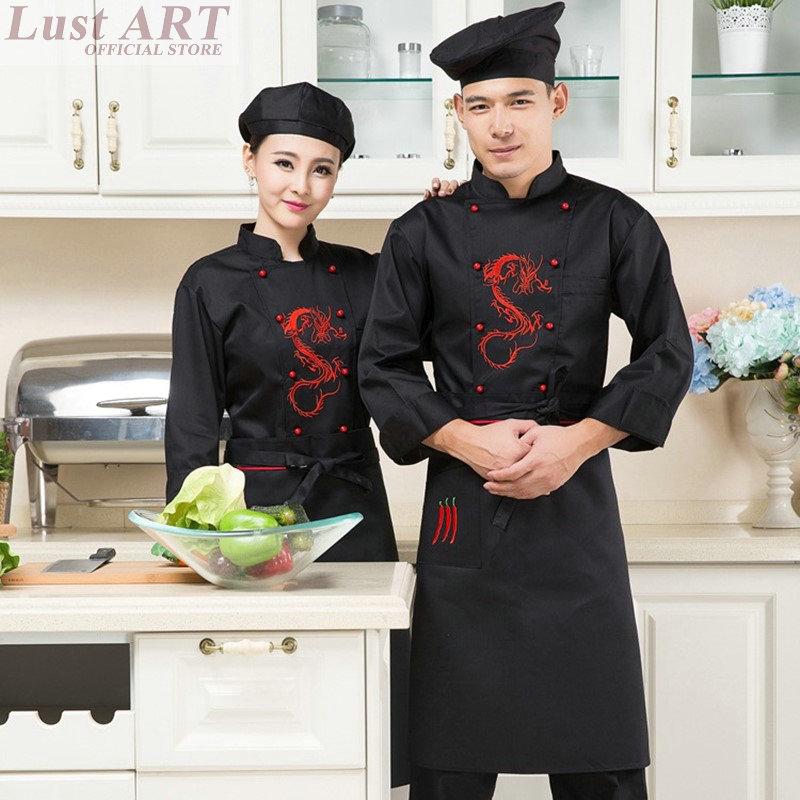 Food service new chinese style elegant chef jacket hotel for Chaquetas de cocina originales