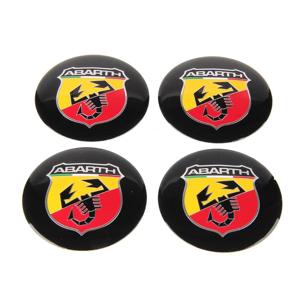 Emblem Logo Wheel Center Cover Hub Rim Stickers Decals For ABARTH 1100 Scorpione Fiat 500 124 Spider Zagato 750 595 695 SS Coupe emblem