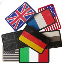 PVC Flag Patch Union Jack Spain France Germany Italy American USA  Canada Military Tactical Badges Rubber Patches