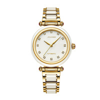 Top Brand Women Fashion Genuine Hetian Jade Watch Automatic Female Mechanical Watch Hollow Female Models Reloj Mujer