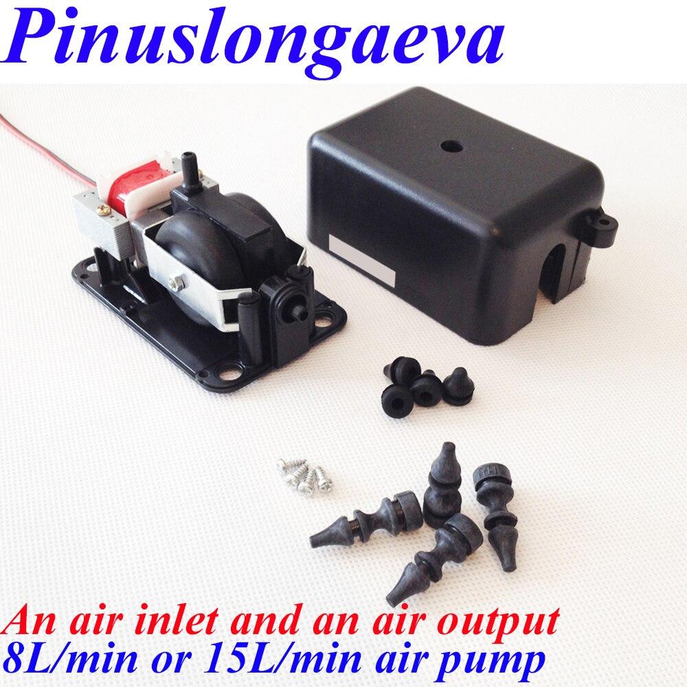 Pinuslongaeva Factory outlet 4 8 15 25L/min DC12V DC24V AC220V AC110V compresseur D'air Aquarium oxygénateur pompe à air d'ozone pièces
