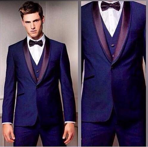 Top Selling New Suit Bridegroom Notch Lapel Best Man Wedding Suits