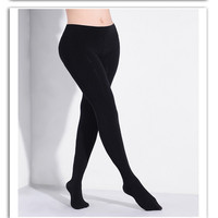 2301 Women 150D Microfiber Thermal Fleece Lined Tights Thermal Pantyhose In Solid Black Color Super Soft