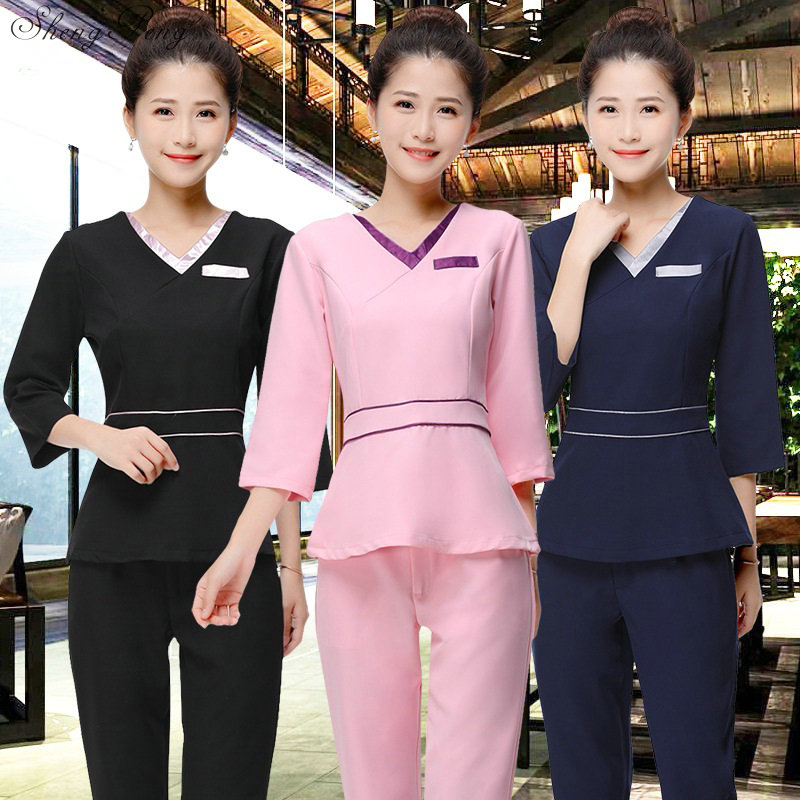 Maternity Hospital Nurse Uniform Medical Work Wear Uniform Female Nursing Scrubs Tops+pants Suits S-XXXL V1336