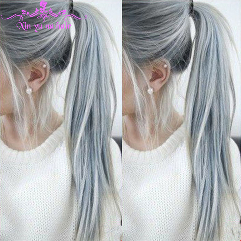Hot Sale Brazilian Ombre Silver Grey Human Hair Wigs Full