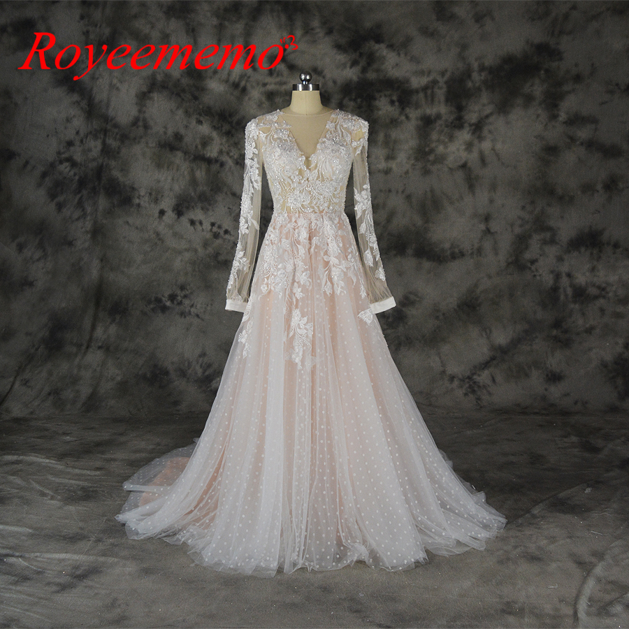Pink Color Wedding Gown: 2018 Hot Sale Special Lace Design Wedding Dress Pink And