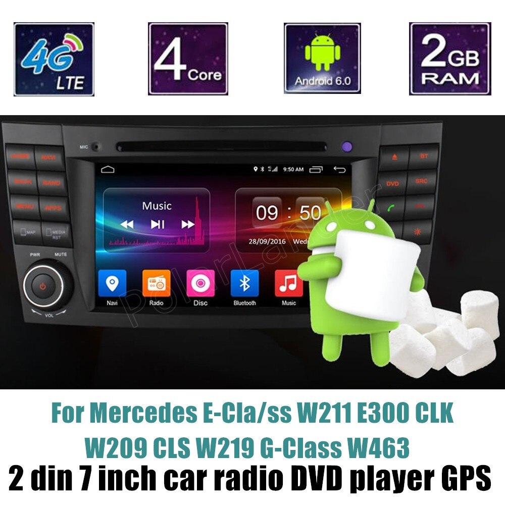 Lecteur DVD de voiture 2 din GPS 7 pouces Radio stéréo vidéo pour BENZ e-class W211 E300 CLK W209 CLS W219 g-class W463