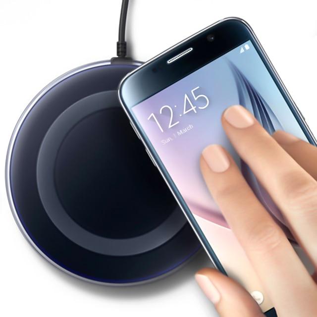 QC Sạc Không Dây Cho Samsung Cảm Ứng Sạc Không Dây QI Sạc Miếng Lót Cho Iphone 8 Xiaomi Mi9 Sạc Cảm Ứng Ga