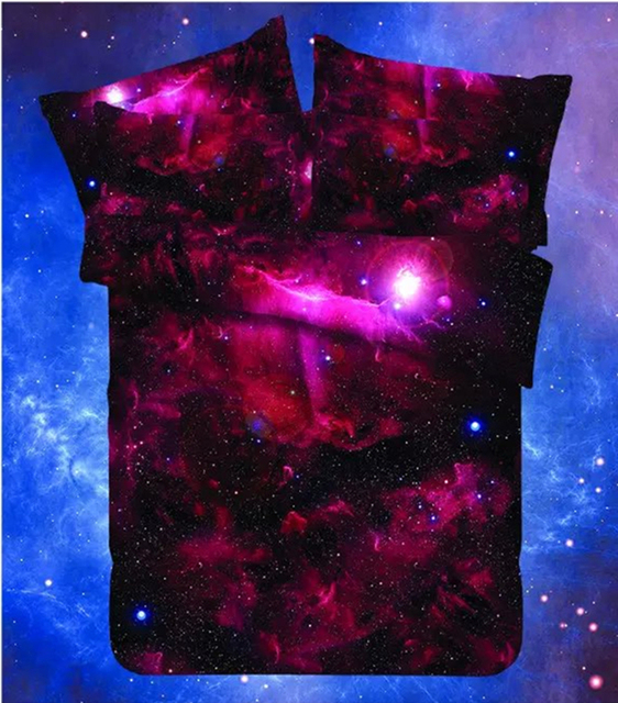 Colorful Space Printed Bedding Set