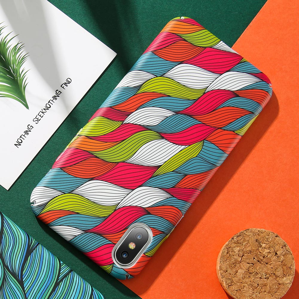 KISSCASE-Colorful-Vintage-Woven-Pattern-Case-For-iPhone-7-8-Plus-Hand-painted-Wavy-Phone-Case(3)