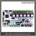 Envío Libre 3D Impresora Kits de Inicio Placa Madre BIQU Junta Rumba Con 6 unids Drv8825 Stepper Conductor 6 unids Disipador
