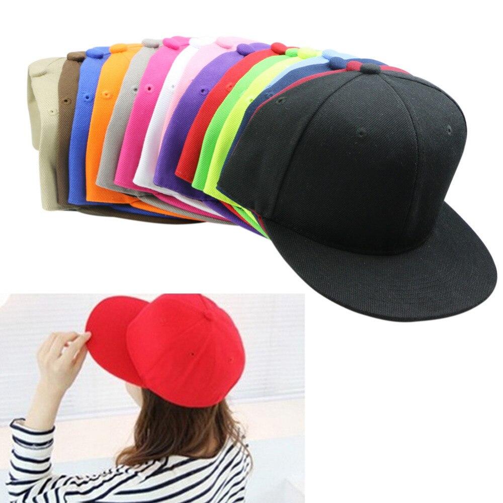New Men Blank Plain Snapback Hats Unisex Hip-Hop Adjustable Bboy Baseball Caps