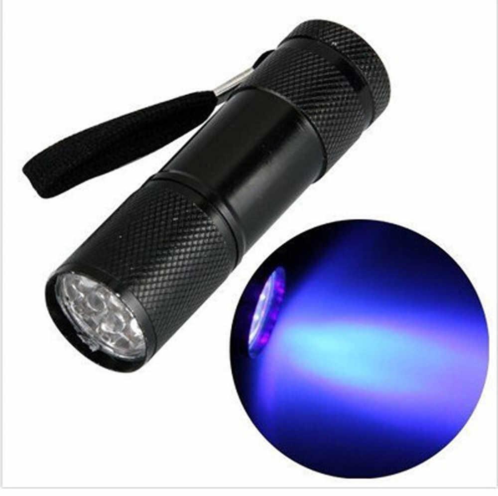 Super Mini aluminium UV ULTRA VIOLET 9 lampe de poche LED BLACKLIGHT lampe torche lampe main lumière sous-marine projecteur torche # ZH