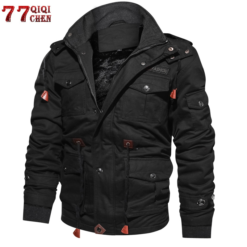 cb1621a754c Brand Thick Winter Fleece Jackets Men Military Tactical Army Jacket Mens Plus  Size 4XL Keep Warm -30  C Hooded Jaqueta Masculina