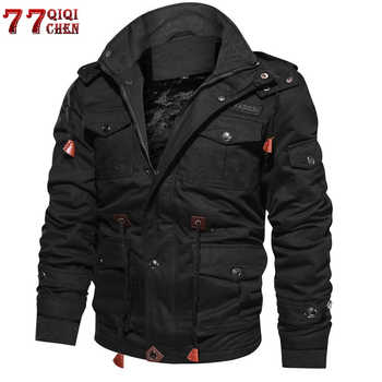 Brand Thick Winter Fleece Jackets Men Military Tactical Army Jacket Mens Plus Size 4XL Keep Warm -30 'C Hooded Jaqueta Masculina - DISCOUNT ITEM  51% OFF All Category