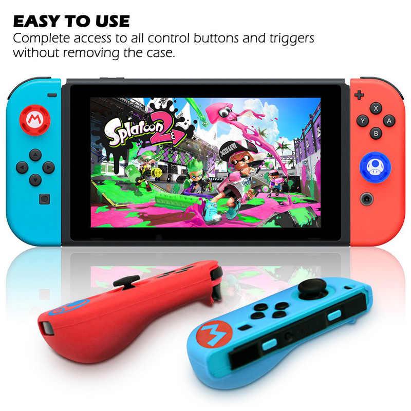 Pokrowiec na przełącznik do Nintendo Joycon pokrowiec Solft silikonowy pokrowiec z nakładki na palce na Nintendo przełącznik sterowanie Grip Joy-con Cover