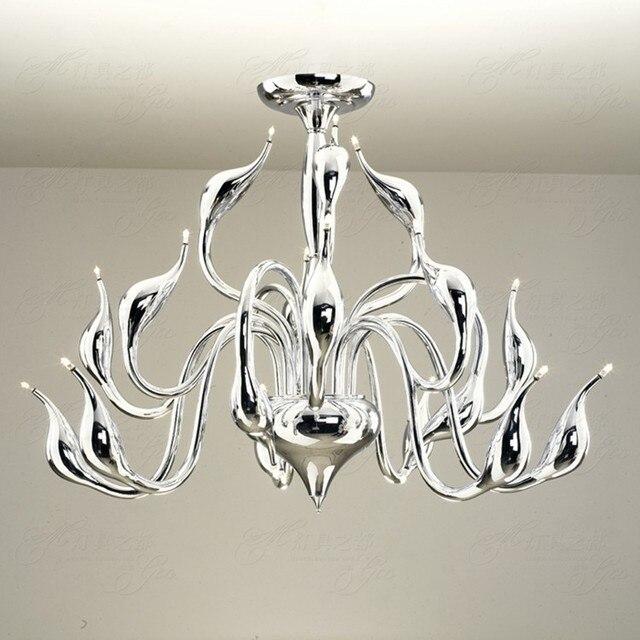 Moderne LED Kroonluchter zwaan licht 15 heads foyer led decoratie ...
