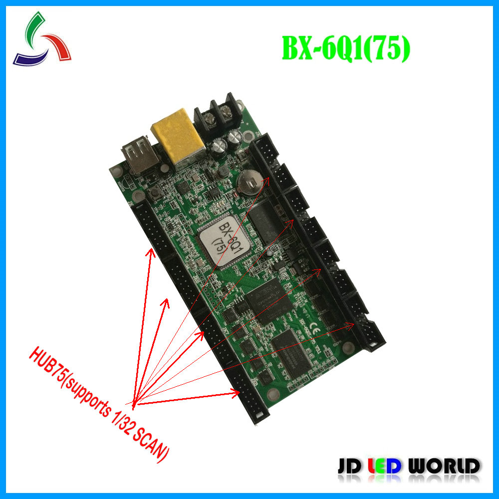 BX 6Q1 75 Ethernet USB lintel full color LED display screen controller card replace BX 5Q1