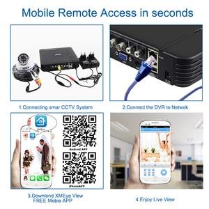 Image 5 - CCTV 4CH Hybrid DVR Video Surveillance System 720P 1080P AHD Camera Kit Day & Night AHD Dome Camera Kit VGA HDMI Output Plastic