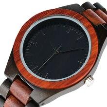 Новое поступление 2017 года роскошные полный деревянные аналоговые Bamboo Модные мужские кварцевые наручные часы Природа Дерево открытый часы Relogio Masculino