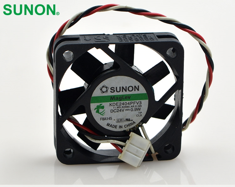 Sunon original KDE2404PFV3 Double Ball Bearing Cooling Axial Fan DC 24V 0.9W 4010 40*40*10mm 100 pcs/lot high quality new ym1204pfb3 4010 4cm 12v 0 04a ultra quiet double ball bearing fan for first union 40 40 10mm