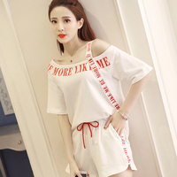 Harajuku Off Shoulder Summer t Shirt Women Cotton Korean Style T Shirt Streetwear Hip Hop Ulzzang Tshirt Clothes Women Tops 5F79