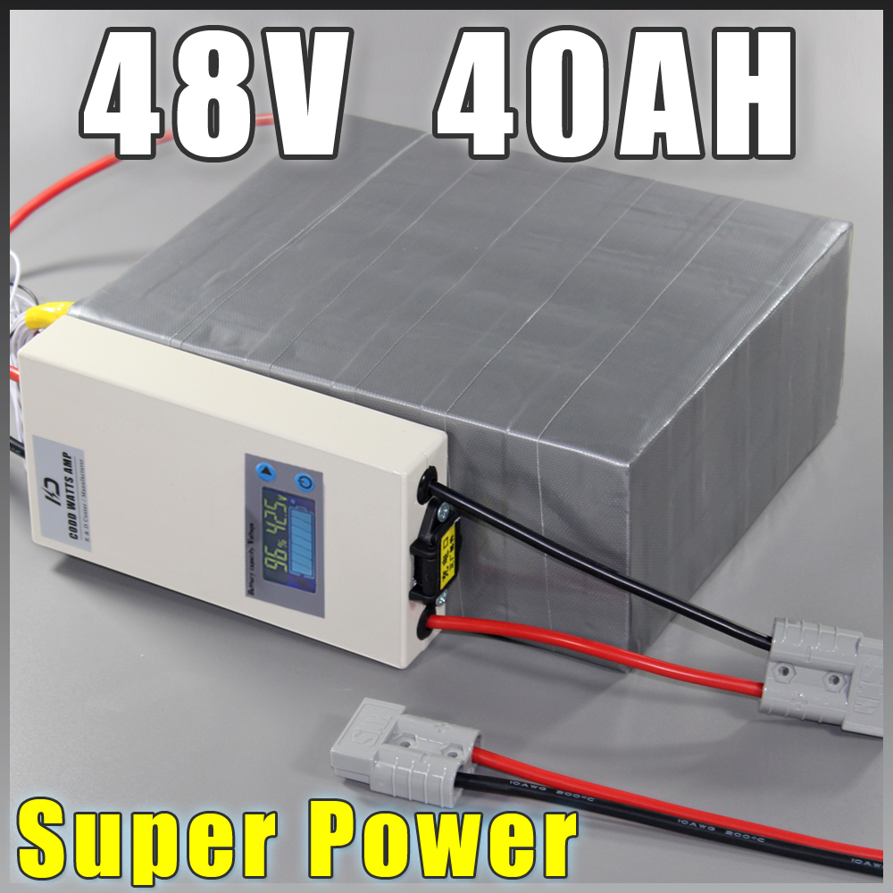 48V 40Ah LiFePO4 Battery Pack ,2000W Electric Bicycle Battery + BMS Charger 48v lithium scooter electric bike battery pack